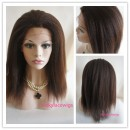 Indian remy hair Italian yaki glueless full lace cap Baby hair-GLW07