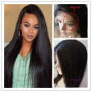 18 inch Yaki straight Indian remy human hair glueless full lace-GLW04