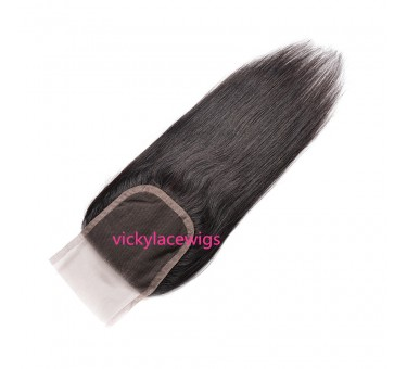 Natural Straight 4*4 Lace Closure Wholesales Natural Color-HW014