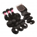 Wholesales Body Wave Hair Weave With 4*4 Lace Closure-HW010