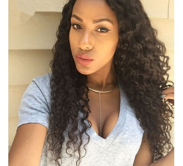 Affordable Curly Brazilian Virgin Hair 360 Lace Wigs-LFW14