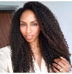 Kinky Curly 360 Lace Wigs Natural Color-FLW32