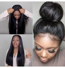 Natural Straight 360 Lace Wigs Brazilian Virgin Hair-GLW011