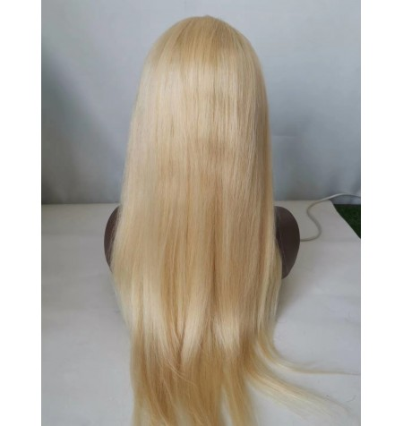 Malaysian Virgin 613 dh lace wig blonde hair silky straight glueless