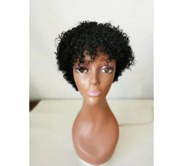 curly wig for black women human hair machine made wig