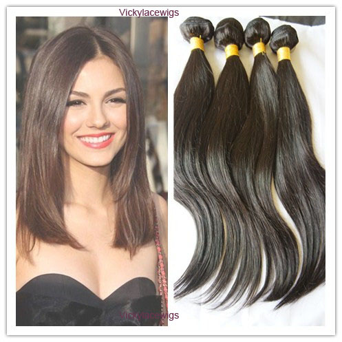 Uprocessed Indian virgin hair wefts natural straight