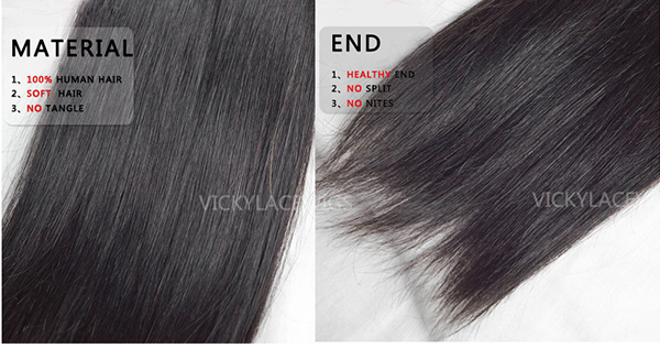 hair weft silky straight