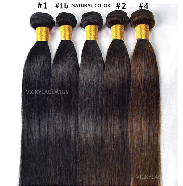 natural straight hair weave