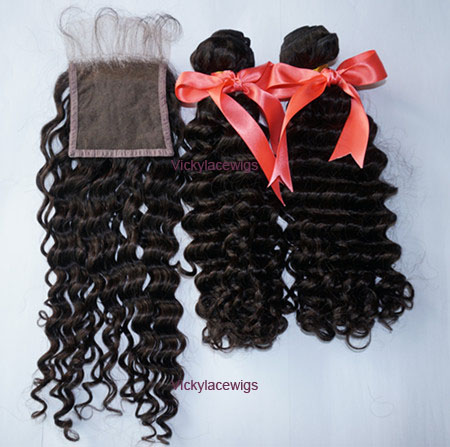 deep wave with lace closure