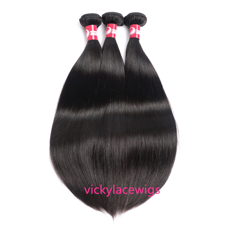 natural straight wefts